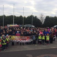 St. Aiden's National School at the start of their operation transformation walk.